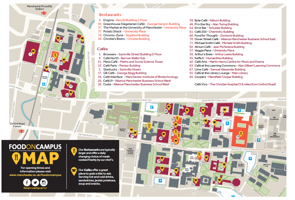 University Of Manchester Campus Map.Find Us The University Of Manchester